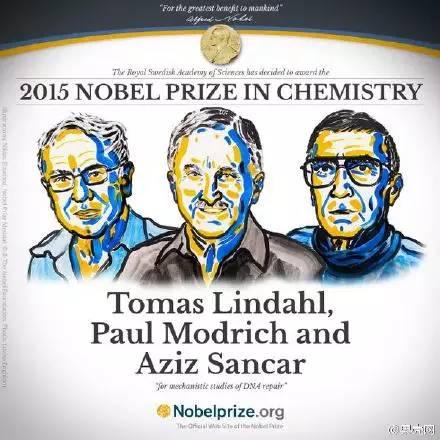 三名科学奖因DNA修复 荣获殊荣 诺贝尔化学奖